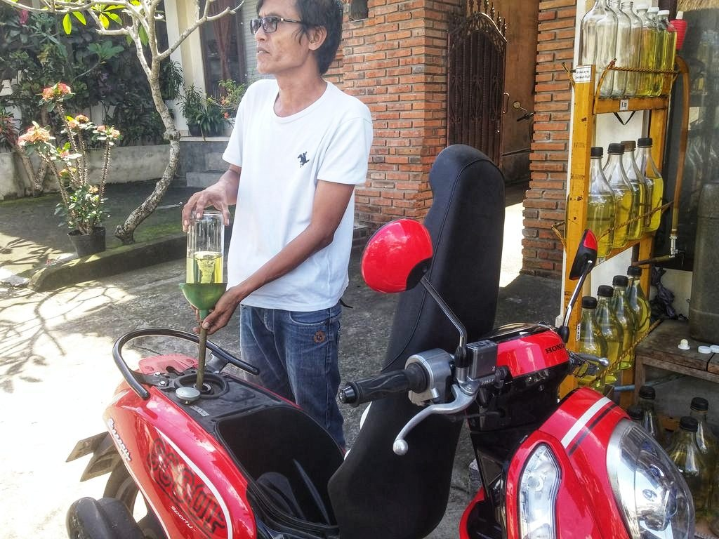 Things To Do In Ubud - scooter fuel