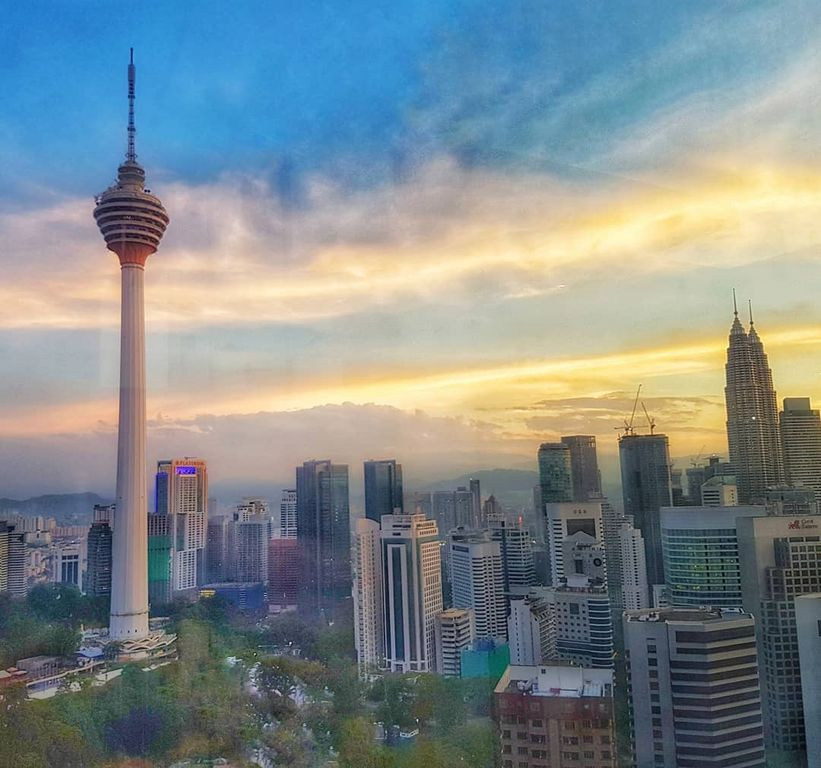 Kuala Lumpur layover - Breakfast views