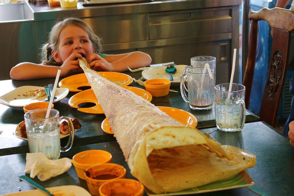 Kid's Vacation Food - roti