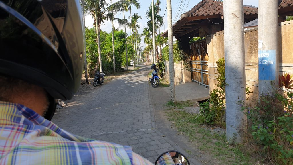Driving In Bali back of the scooter