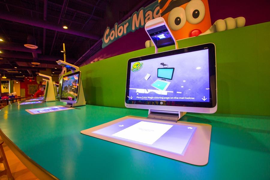 Visit Crayola Experience Orlando  - big screen