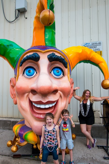 New Orleans with kids  - Mardi Gra World