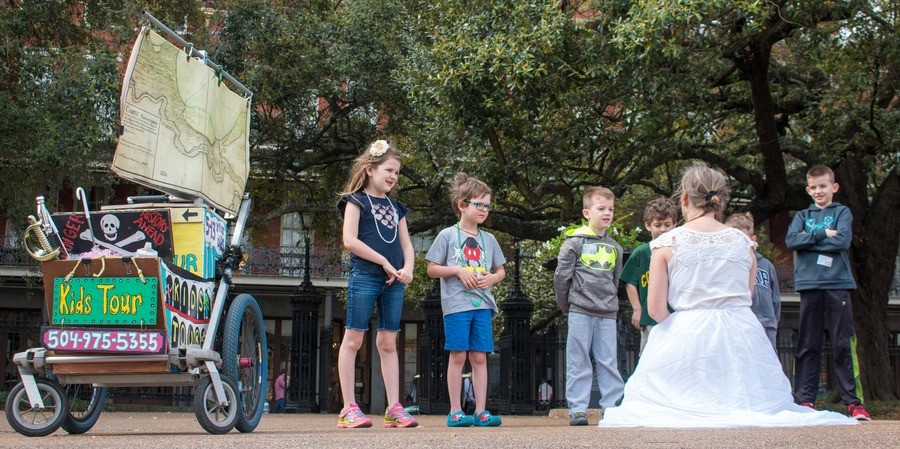 New Orleans with kids  - French Quarter kids tour