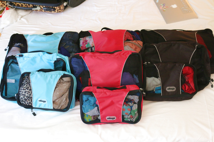 Tips to pack carry on - packing cubes