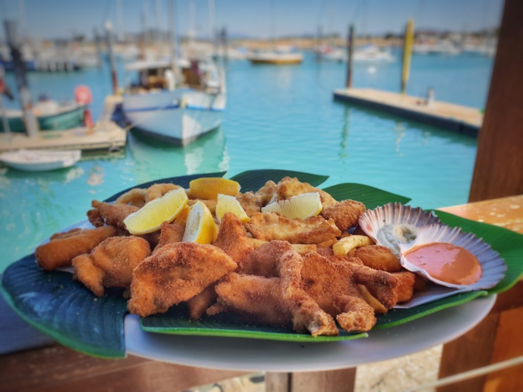 Where To eat in Whitsundays - Fish and chips at Birds