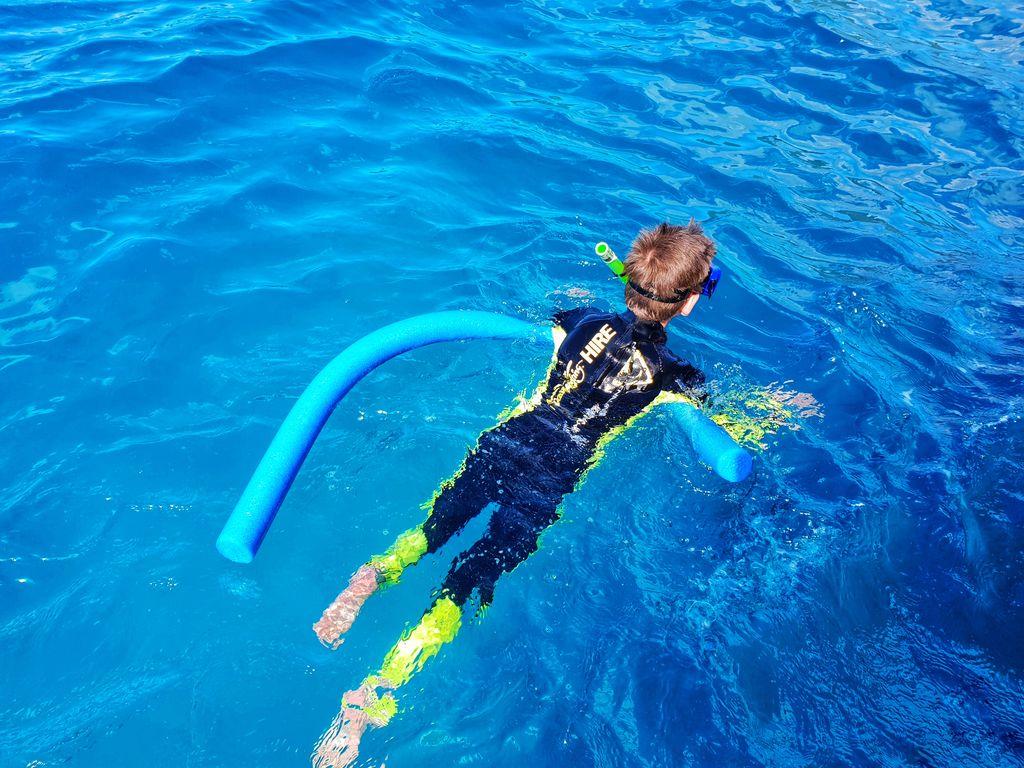 Whitsundays family vacation - snorkel