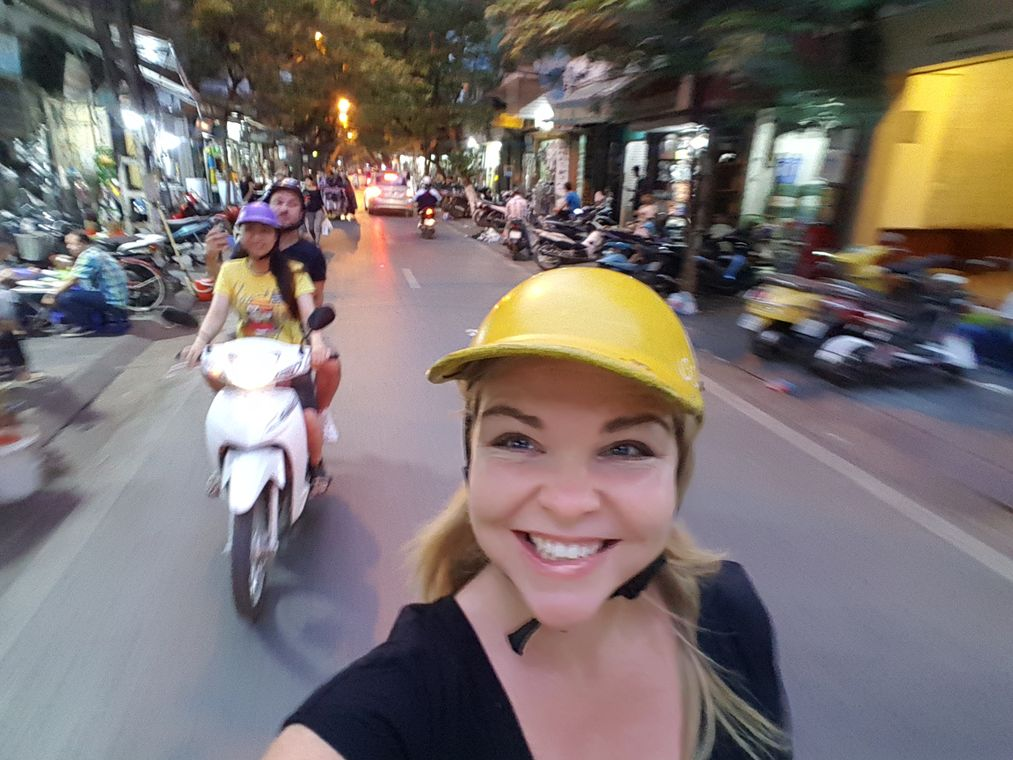 Reasons to visit Vietnam - Hanoi scooter food tour
