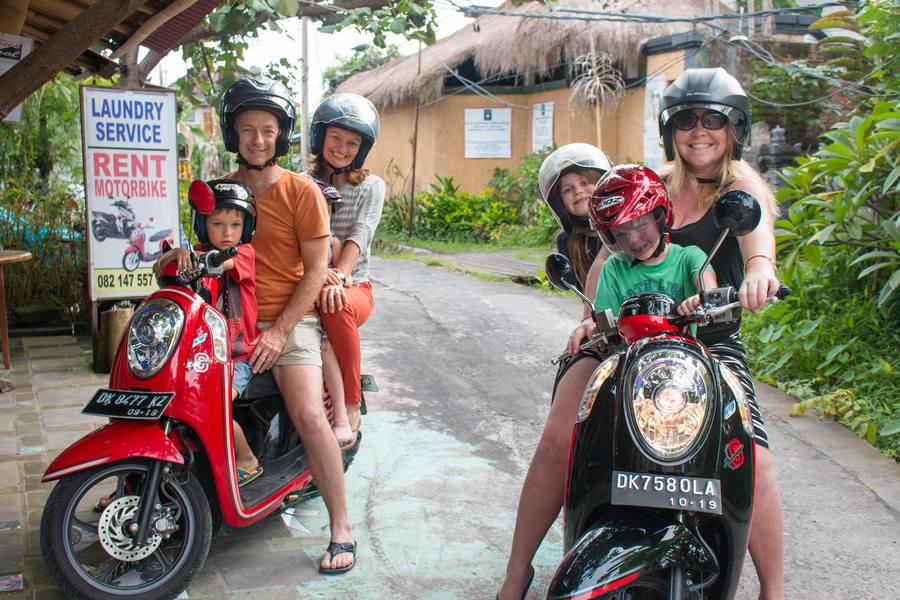 Driving In Bali Scooter