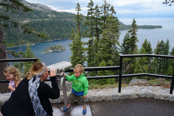 24 hours with kids in Lake Tahoe - Emerald Bay Lookout